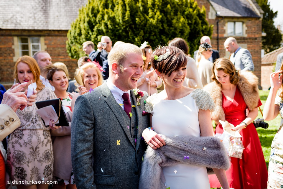 confetti at horncastle church
