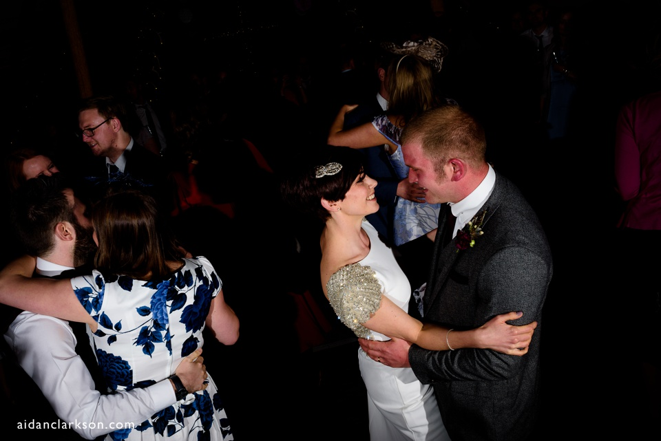 photos of a first dance in a tipi